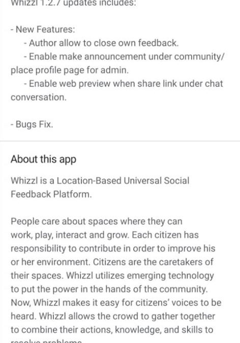 Whizzl 1.2.7 Version Update
