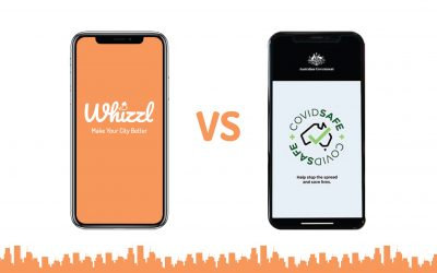 Whizzl App vs. The Australian Government Tracking App