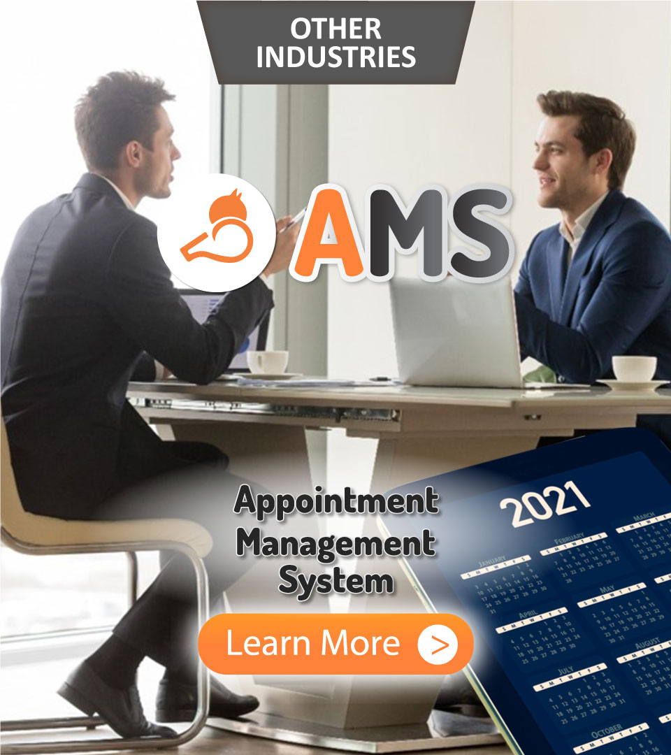Other Industries, Whizzl, Booking, AMS, Appointment Management System, Learn More