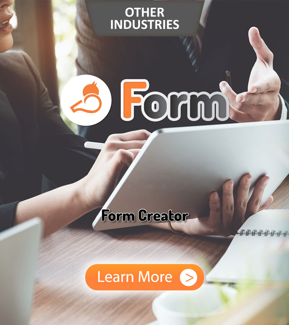 Other Industries, Whizzl, Digital Form, Form, Form Creator, Learn More
